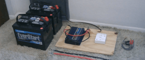 car battery bank how to make improvise