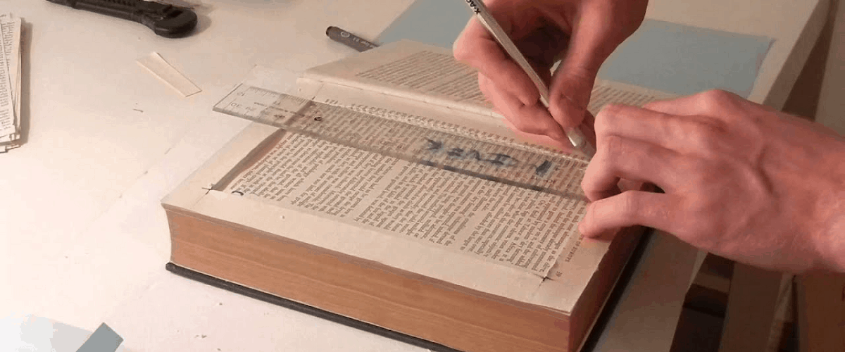how to make book compartment secret hidden